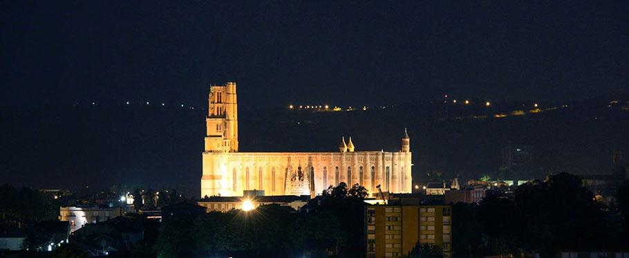 La Cathédrale Sainte Cécile d'Albi de nuit par Loïc Bourniquel
