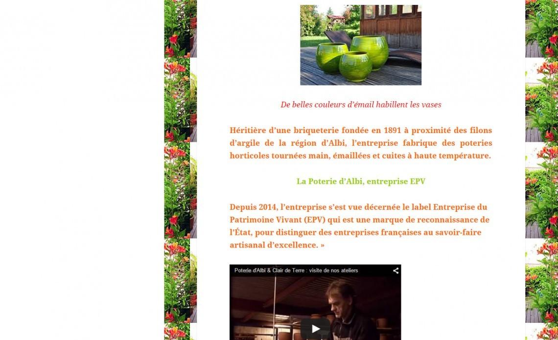 La blogueuse Françoise Atalli parle des Poteries d'Albi