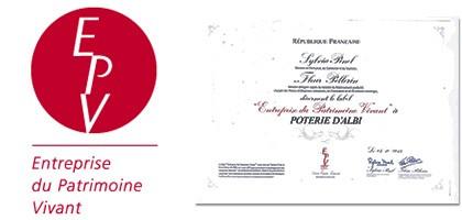 Label E.P.V. Entreprise du Patrimoine Vivant