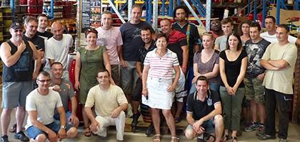 L'équipe des poteries d'Albi à l'atelier