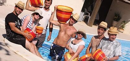 L'équipe des poteries d'Albi à la piscine