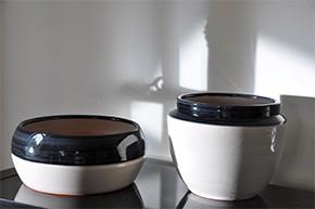 Pots Melilo et Austral de la gamme Yin et Yang, les poteries d'Albi