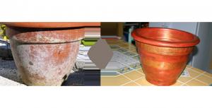 Salpêtre avant et après nettoyage