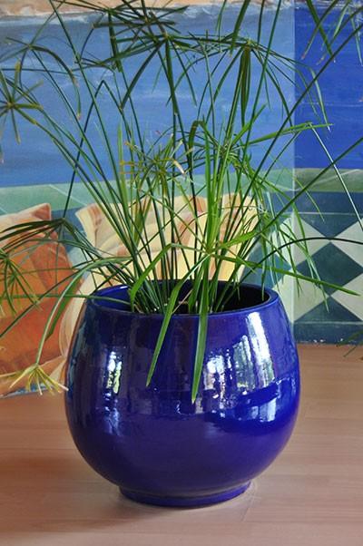 Pot Bahia bleu de la collection spéciale Grand Sud, les Poteries d'Albi