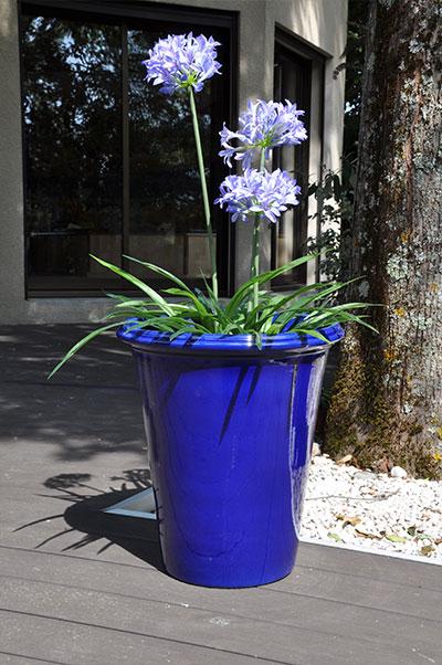 Pot Baobab Bleu de la collection Spéciale Grand Sud, les Poteries d'Albi