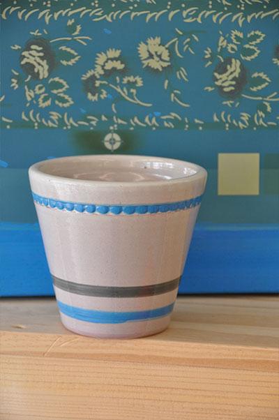 Pot Mini cone de l'édition limitée Lin tissé Rayé, le Poteries d'Albi