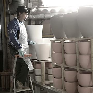 Le savoir faire de l'enfourneur des poteries d'Albi