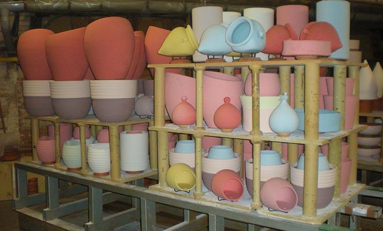 Les poteries d'Albi prêtes à l'enfournement