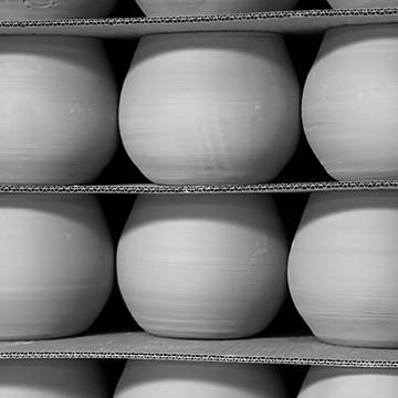 Les poteries d'Albi au séchoir