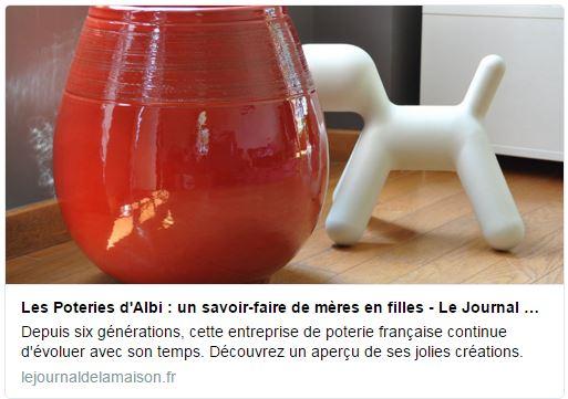 Le Journal De La Maison Et Poterie D'Albi - Les Poteries D'Albi