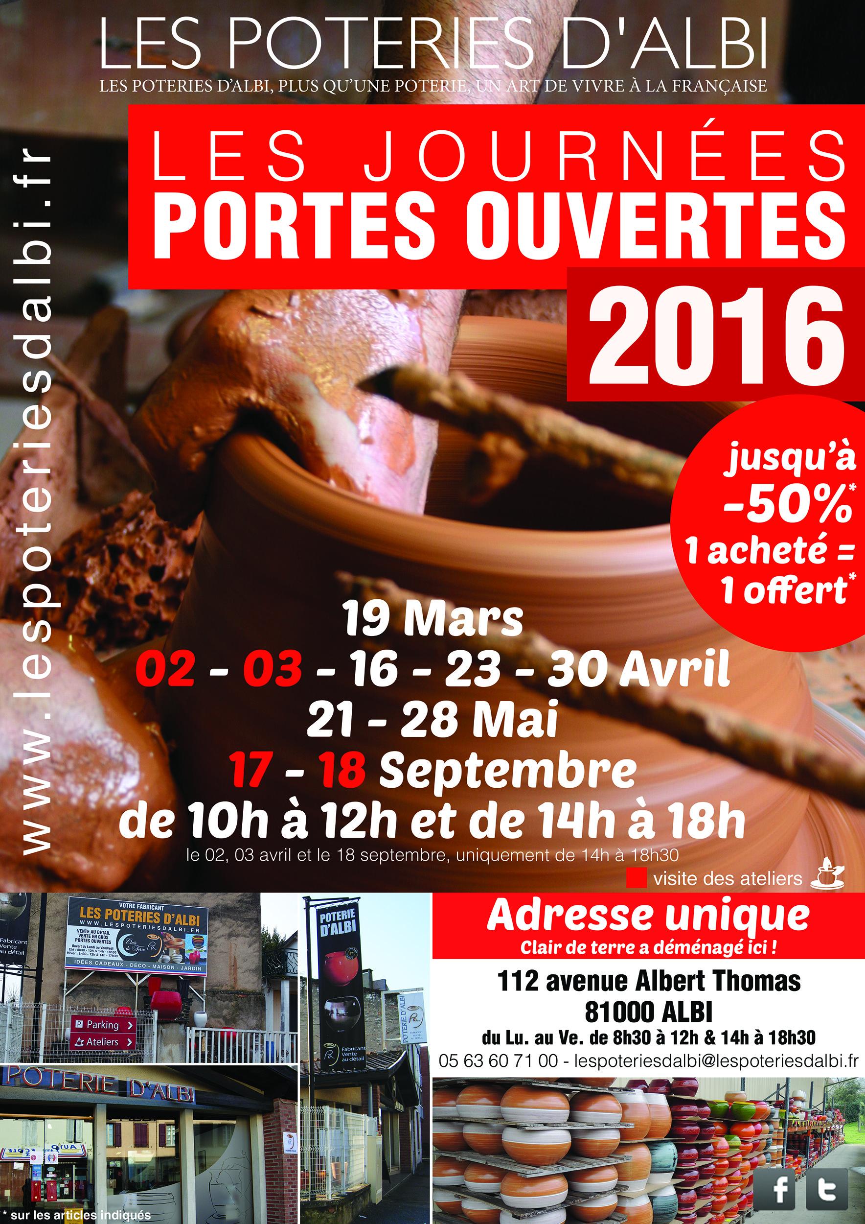 Journées Portes Ouvertes 2016 les poteries d'albi