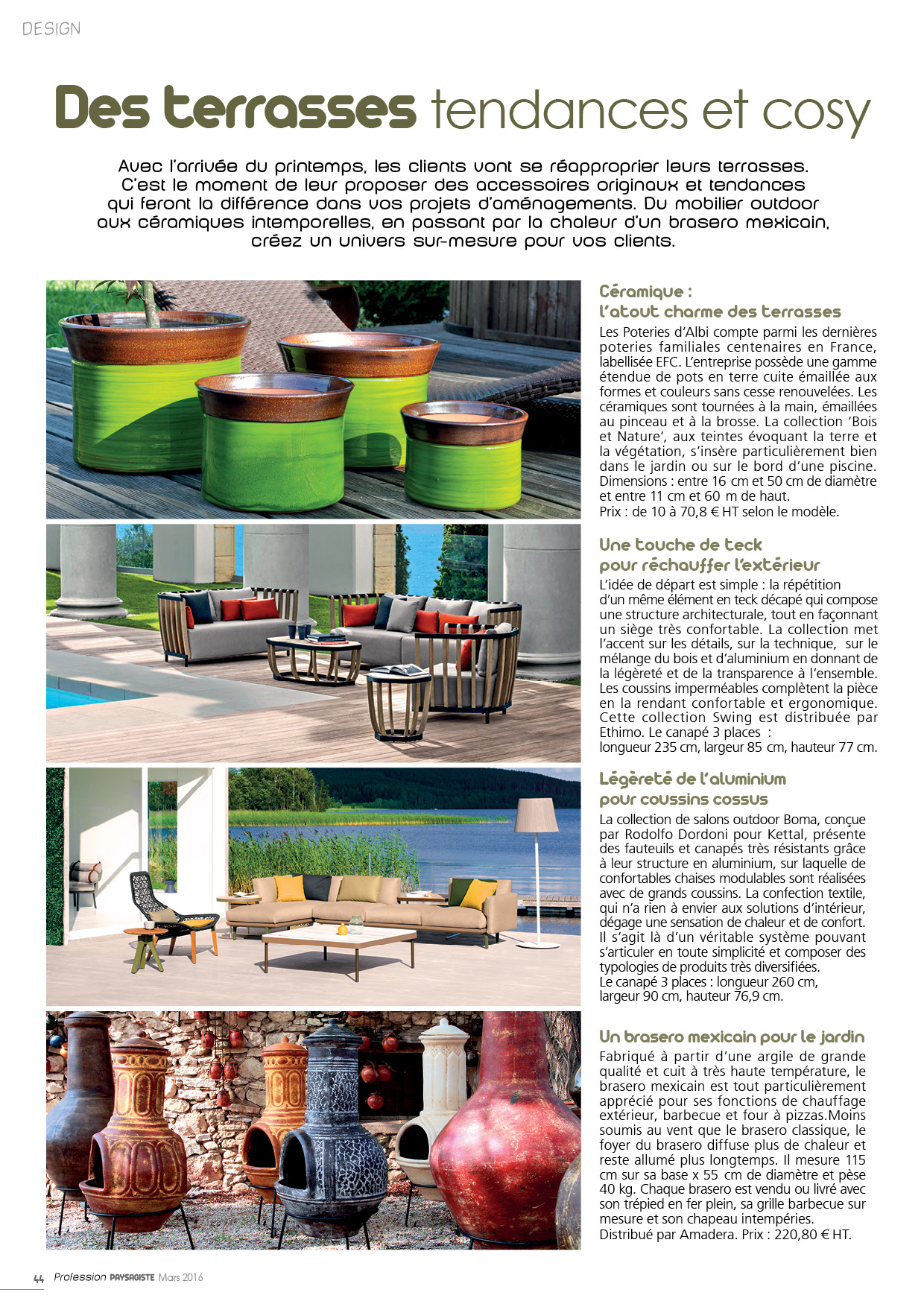 profession paysagiste article 2016 poterie d'albi terrasses tendances cosy