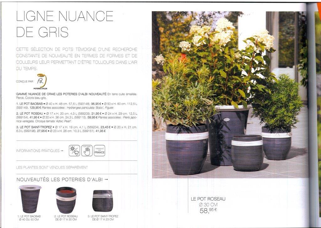 le magazine Truffaut été 2016 nuance de gris des  poterie d'albi