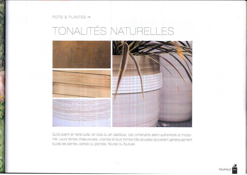 Le magazine Truffaut été 2016 nouveauté poterie d'albi tonalites naturelles