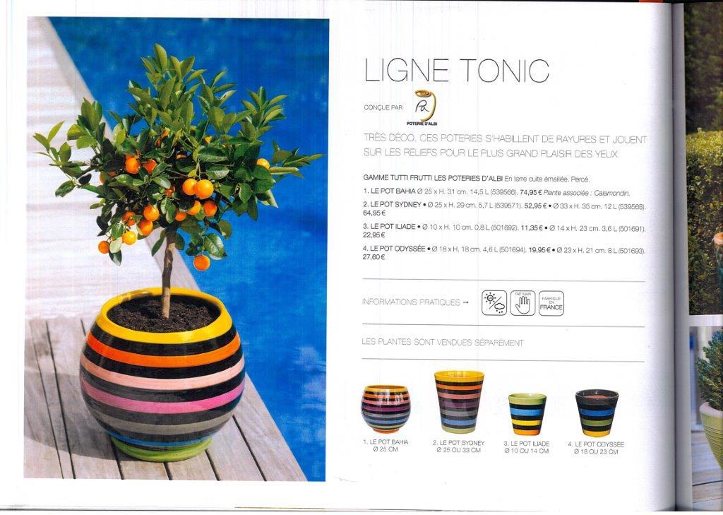 Le magazine Truffaut été 2016 Gamme tutti frutti poterie d'albi
