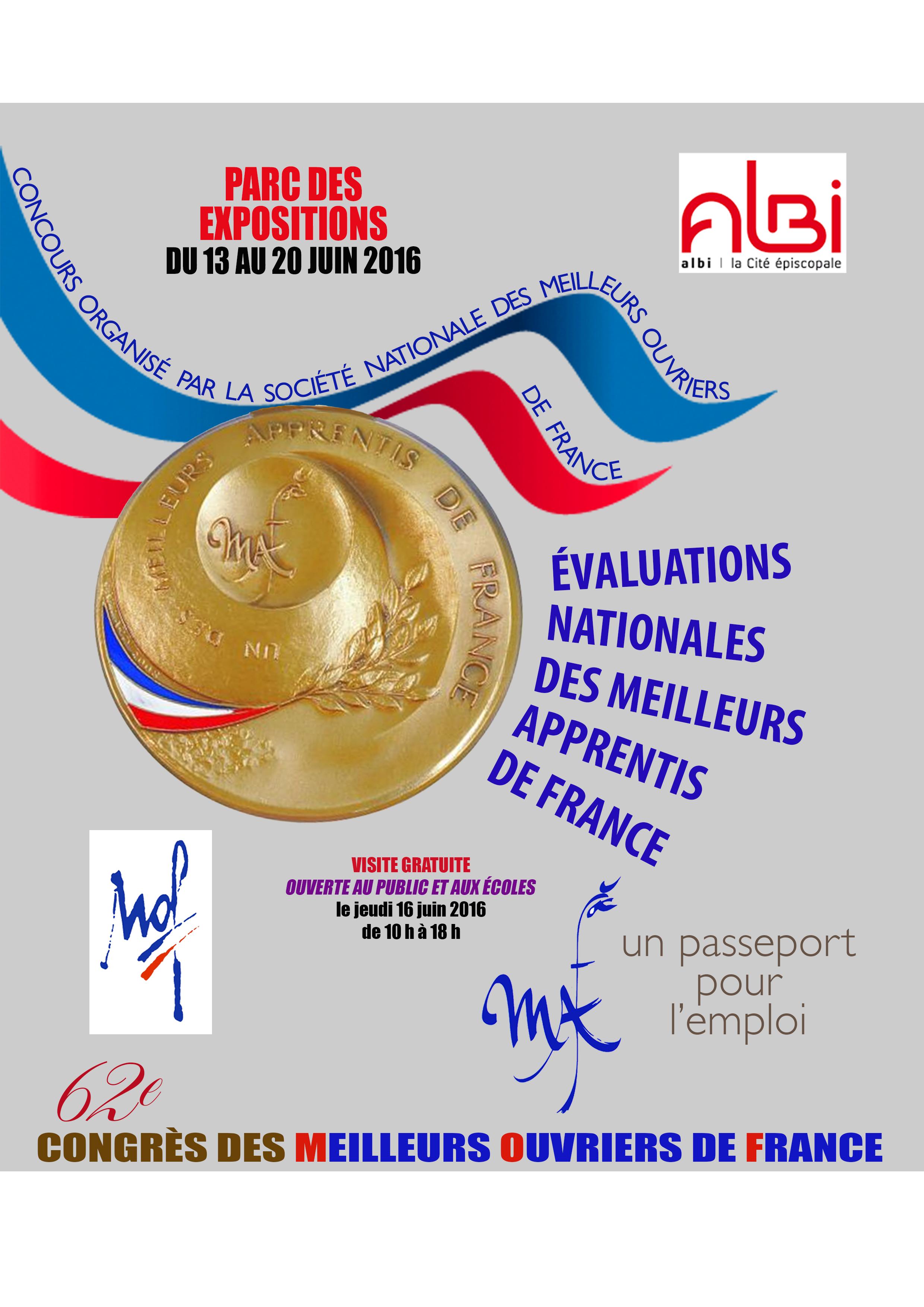 Le 62ème Congrès des MOF 2016 à Albi