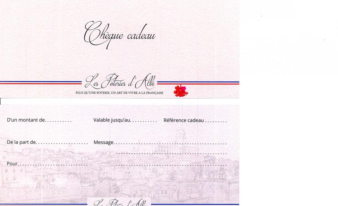 Chèque Cadeau des Poteries d'Albi