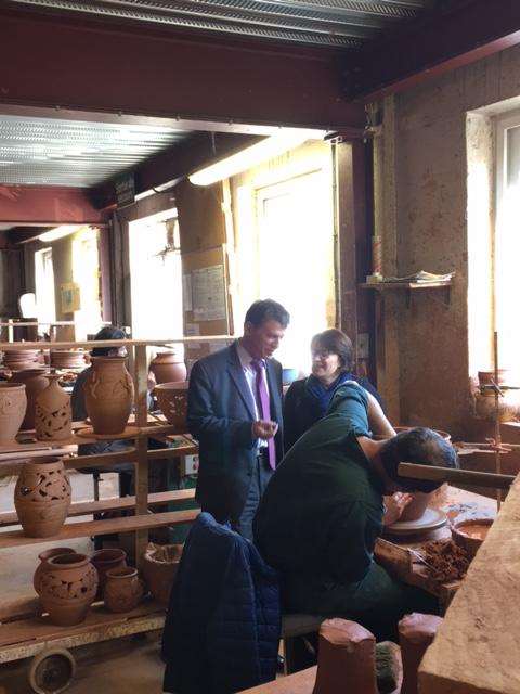 Philippe Folliot député du Tarn en visite